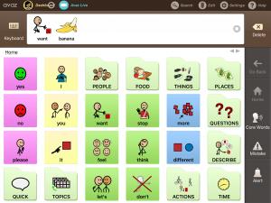 Screenshot of AAC device