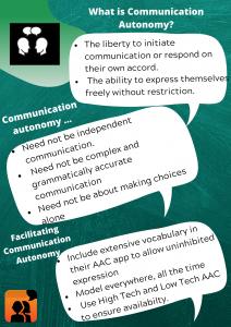 AAC communication autonomous