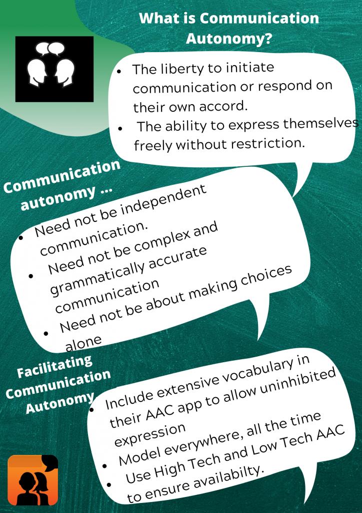 AAC communication autonomy