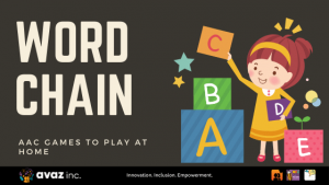 Word chain AAC game