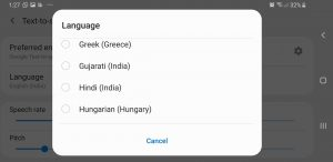 Avaz AAC ANdroid settings