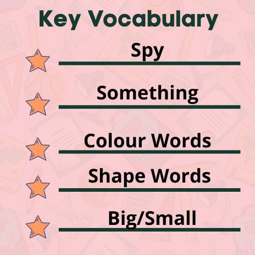 I Spy Game vocabulary