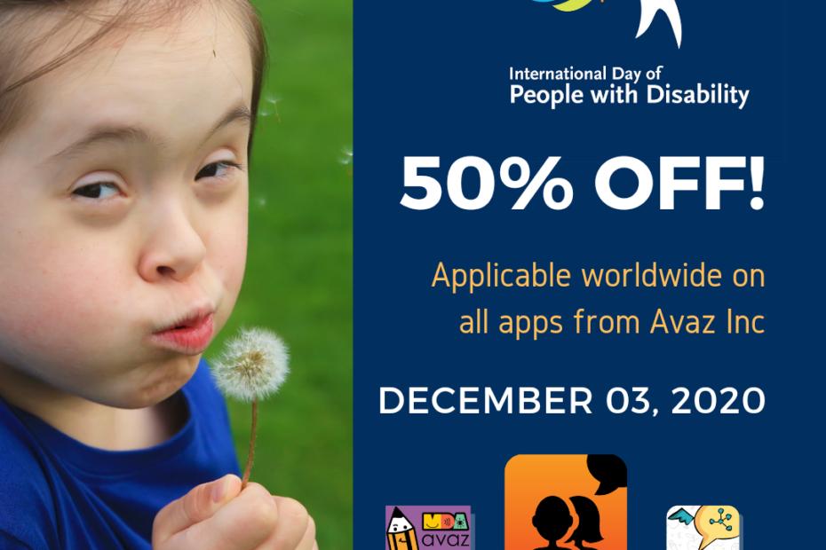 Avaz AAC app Sale on Dec 3