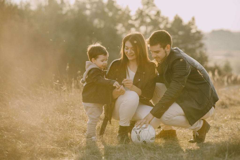 Family using communication intervention strategies using playtime
