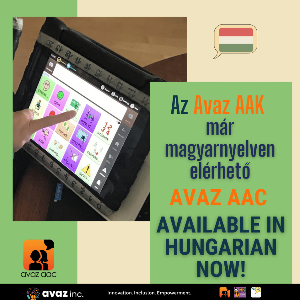 Avaz AAK Magyar – Avaz AAC now Available in Hungarian!