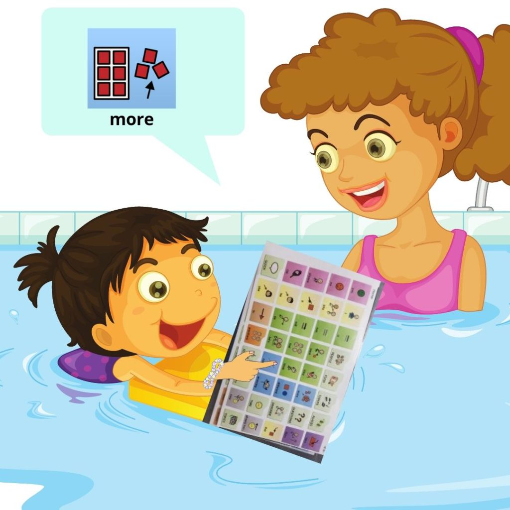 Low-Tech AAC Devices in Swimming Pool