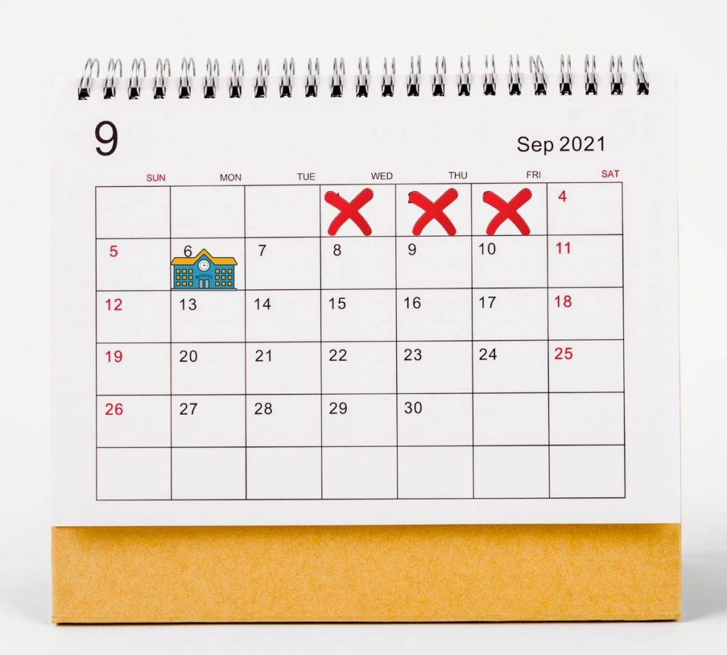 Back to School Countdown Calendar
