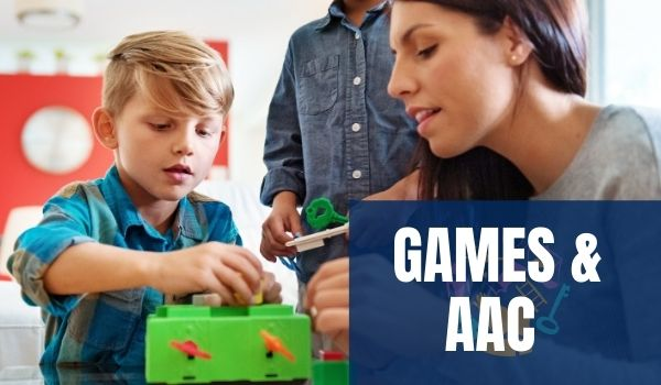 AAC User playing Games